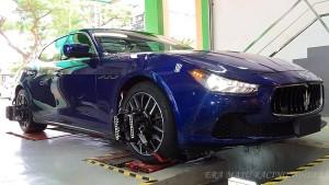 #MaseratiGhibli Born to hit the road #WheelAlignment fix in progressssssss