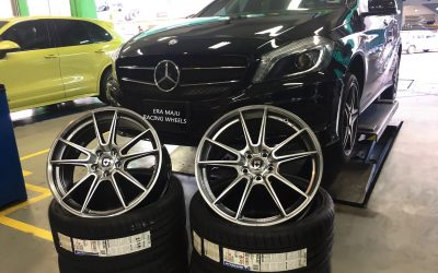 The perfect pair!!!!!!  Mercedes W176 sitting nicely with this stylist set of wheels and tyres.  WHEEL: HRE PERFORMANCE WHEEL FF04 TARMAC TYRE: MICHELIN PILOT SPORT 4S 235/35X19 Get in touch with us today for pricing, availability and suitability on your car.