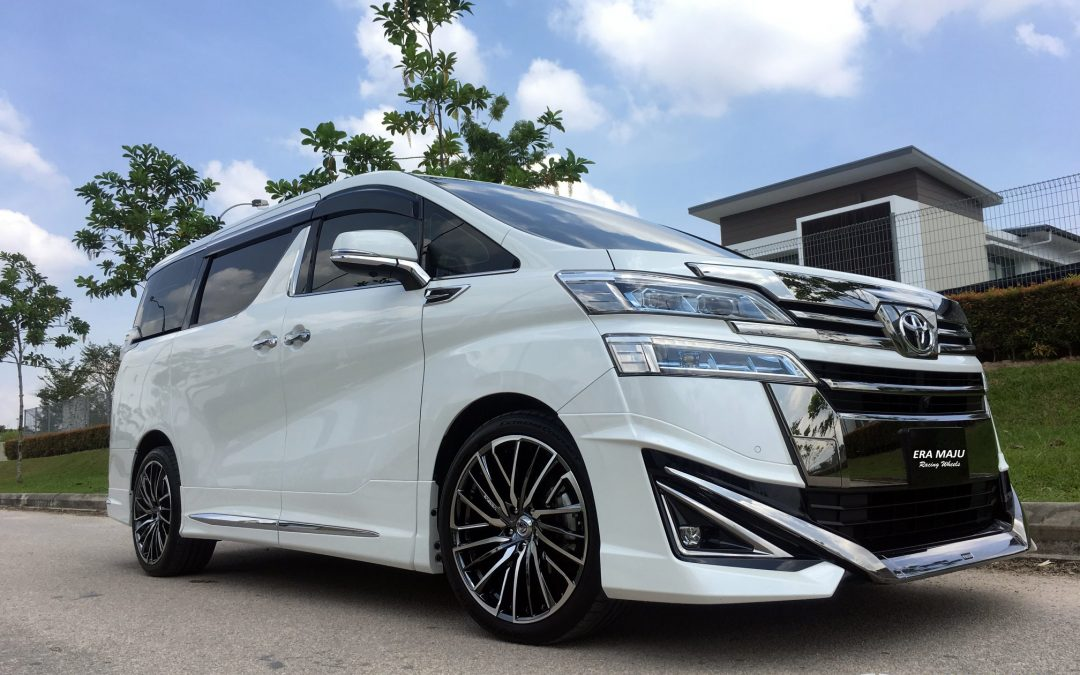 Here's a Toyota Vellfire featuring 20″ Stratagia Avventura black chrome Sport Rim Mated with Continental Extreme sport 245/40R20 tyres.#Rays #Raysengineering #Stratagia #Madeinjapan #Japan #Toyota #Vellfire #Vom #Vac #eramajuracingwheels #tamangaya #continental